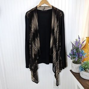 Casual Express Open Front Waterfall Cardigan XXL